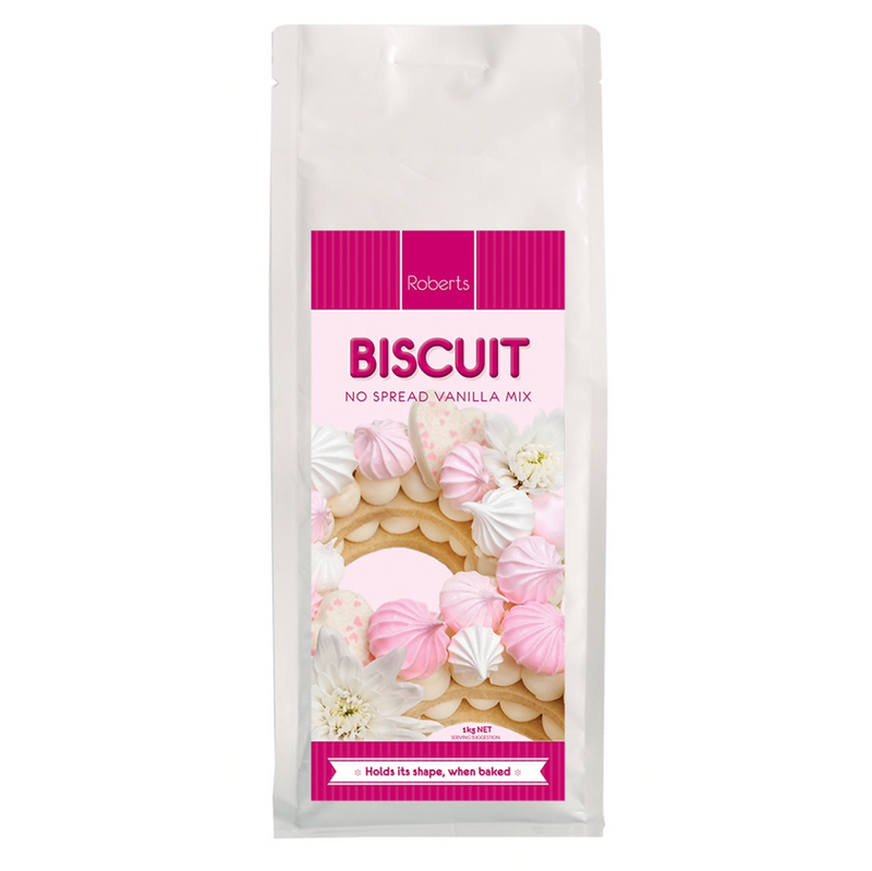 BISCUIT MIX No Spread Vanilla 1kg - by Roberts Confectionary