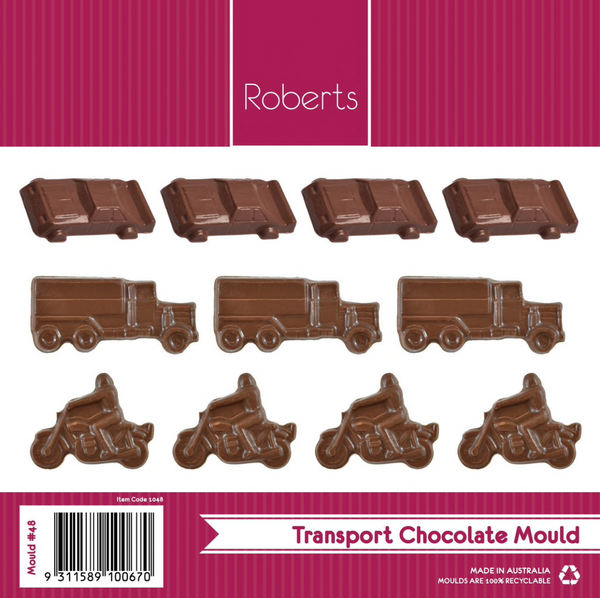 CARS PLANES BOATS TRUCKS MOTORBIKES BALLS CHOCOLATE MOULD #48