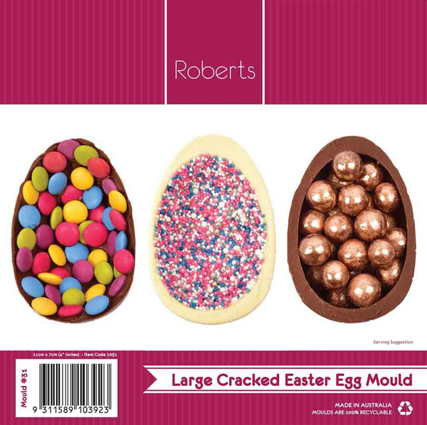 CRACKED EASTER EGG 11.5CM CHOCOLATE MOULD #31