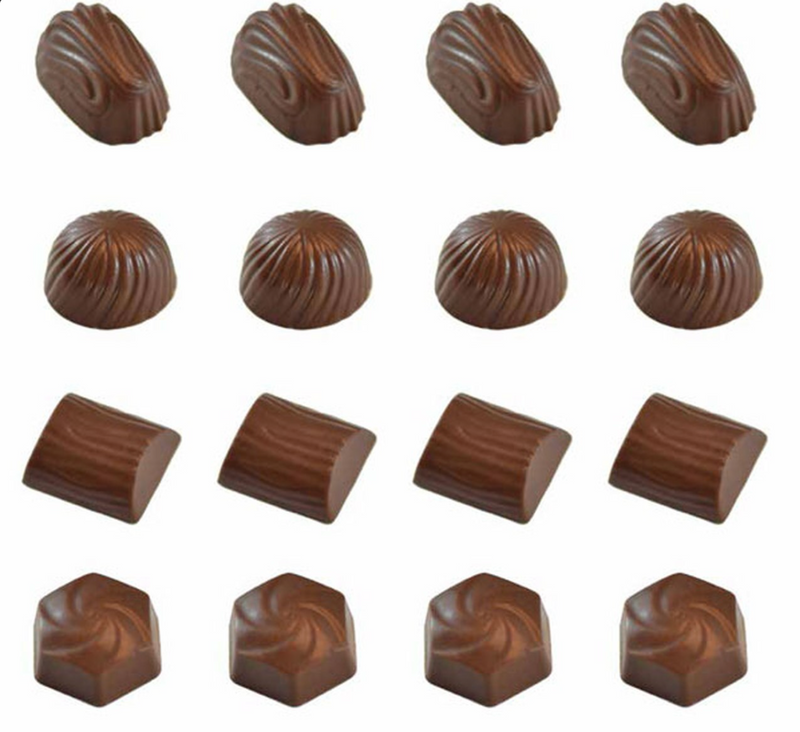 DEEP FILL SWIRLS CHOCOLATE MOULD WITH RECIPE CARD