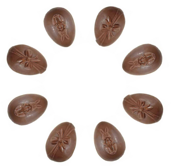 EASTER EGGS BUNNY & RIBBON 5.5CM CHOCOLATE MOULD #51B