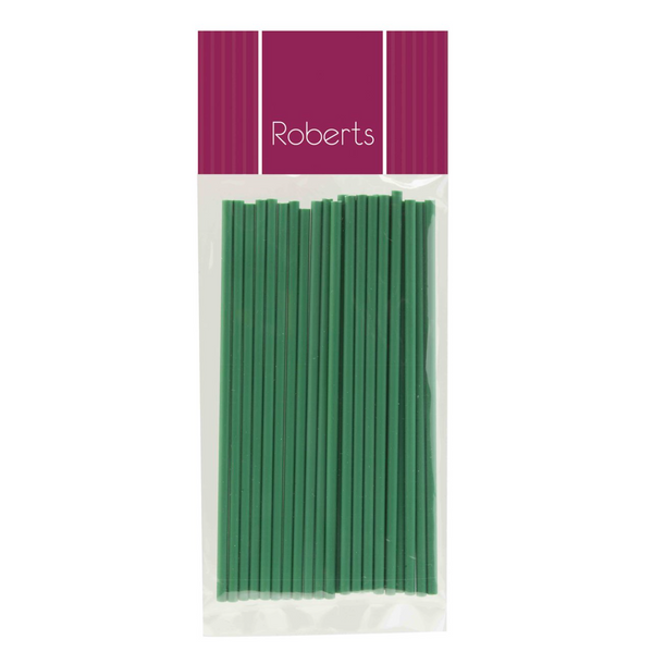 LOLLIPOP STICKS 6INCH GREEN (25 pk)