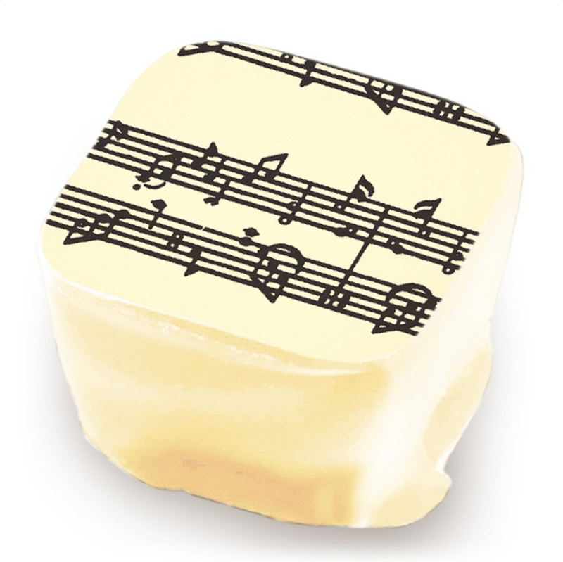 MUSICAL NOTES CHOCOLATE TRANSFER SHEET