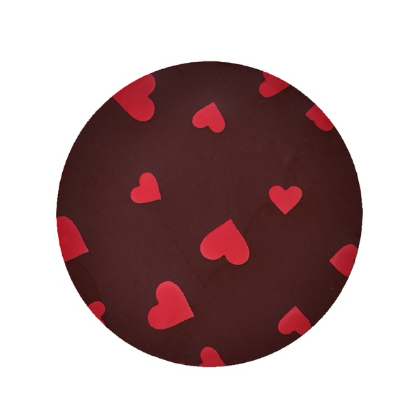 Red Hearts Chocolate Transfer Sheet