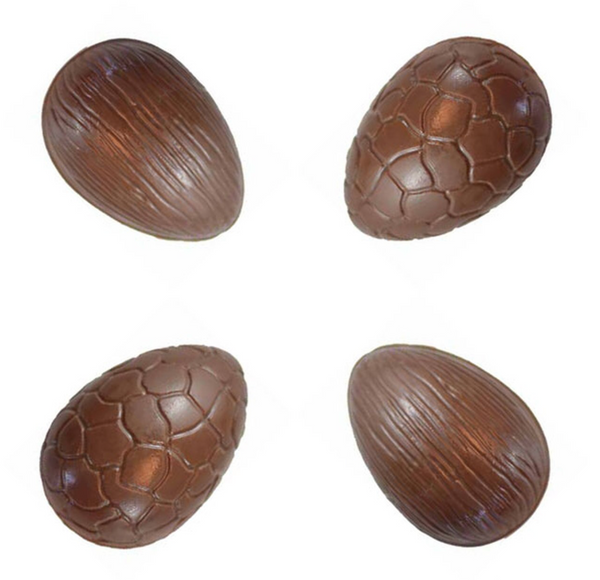 Ribbed & Crackled Easter Egg Chocolate Mould - 8cm 3D