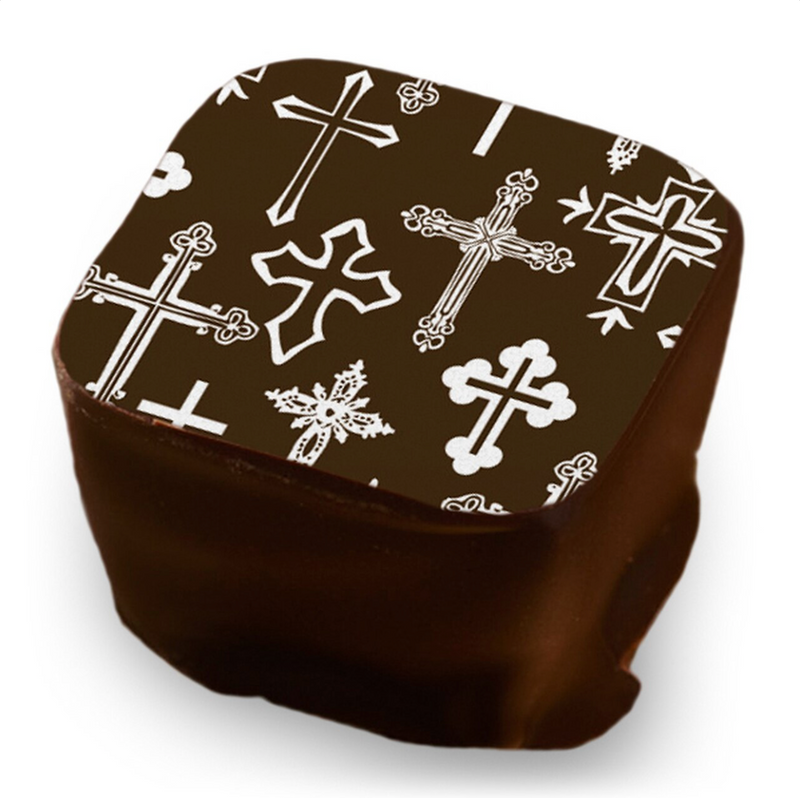 WHITE CROSS CHOCOLATE TRANSFER SHEET