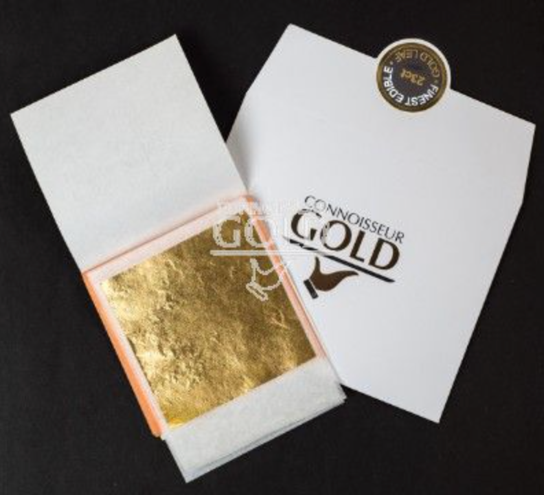 Edible Rose Gold Leaf - 5 sheets transfer 23ct - Connoisseur Gold