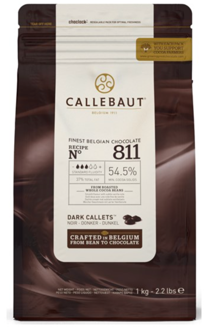 Callebaut Dark Couverture Chocolate Callets (Melts) 55% - 1kg
