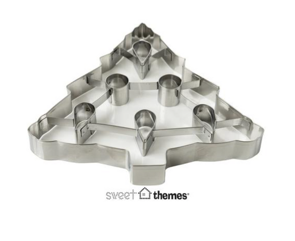 3D Christmas Tree (with Baubles) Cookie Cutter - Extra Large