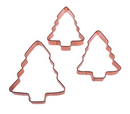 Copper Christmas Tree Cookie Cutter 3pc Gift Set