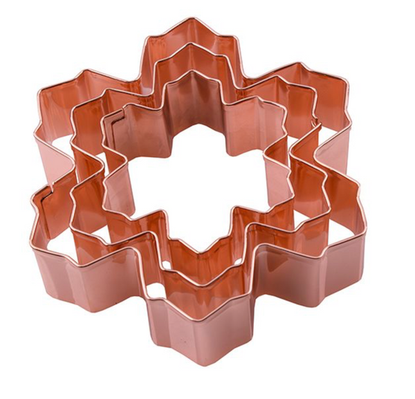 Copper Snowflake Cookie Cutter 3pc Gift Set