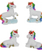 5cm 2pk Rainbow Unicorn Cake Ornament - Asstd