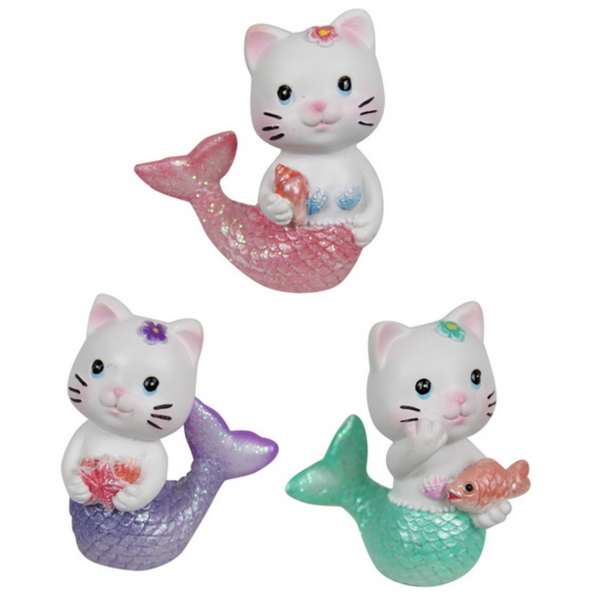 Cat Mermaid 5cm Cake Ornament