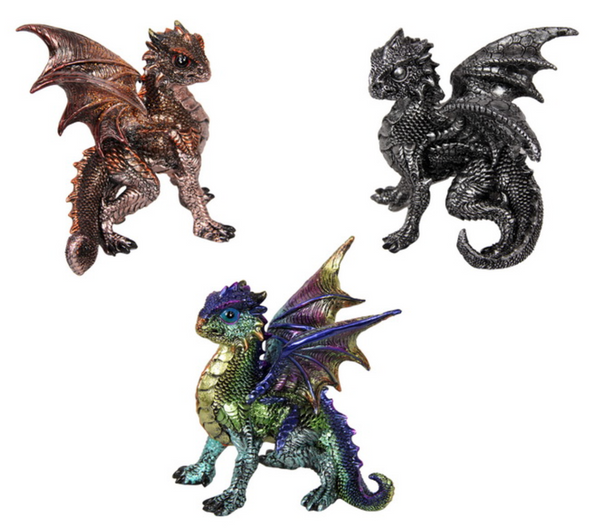 Dragon Defence Pose 13cm - Cake Ornament - Asstd Designs