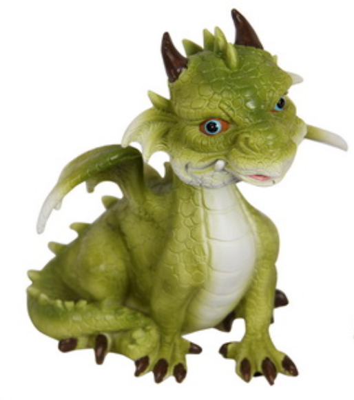Green Puff Dragon 13cm - Cake Ornament - Asstd Designs