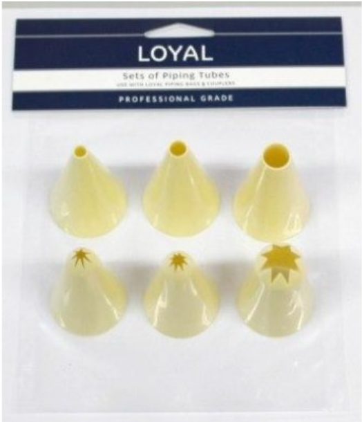 6pc Round & Star Thermoplastic Loyal Piping Tips