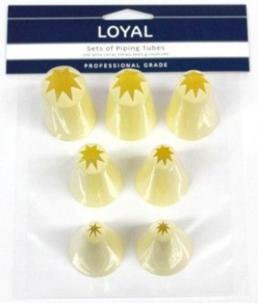 7pc Star Thermoplastic Loyal Piping Tips