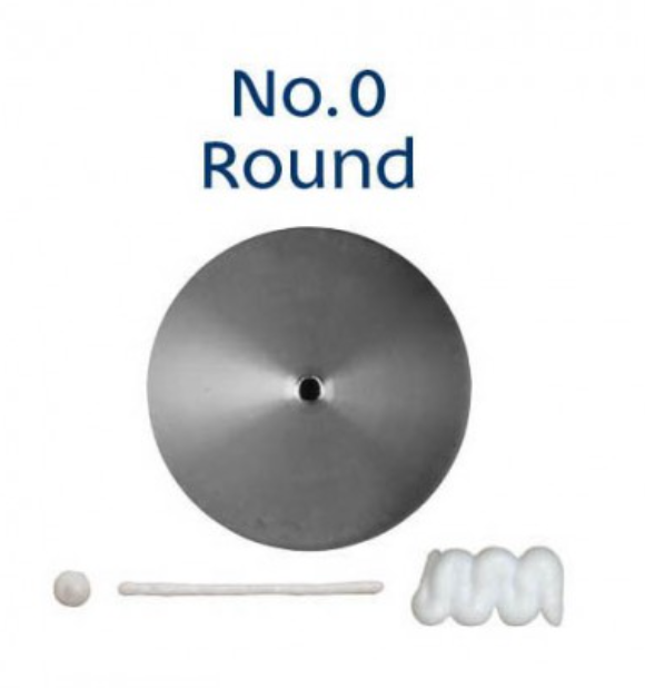 No 0 Round Piping Tip - Loyal