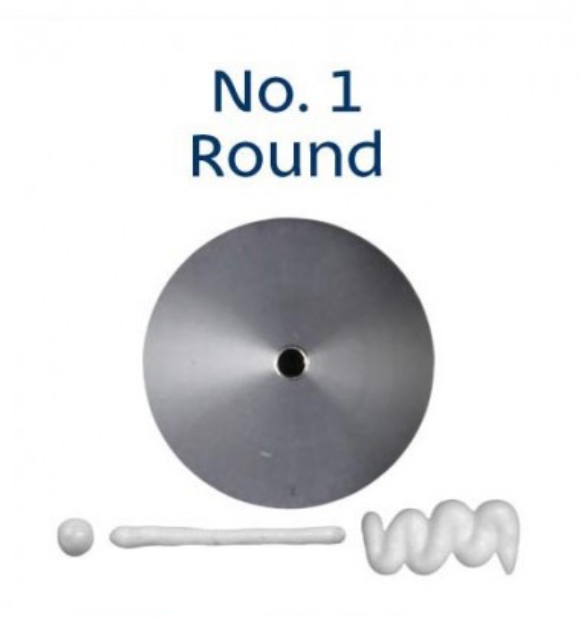 No 1 Round Piping Tip - Loyal
