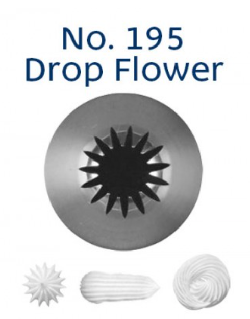 No 195 Drop Flower Medium Piping Tip - Loyal