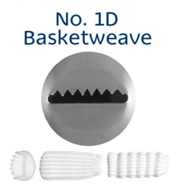No 1D Basketweave Medium Piping Tip - Loyal