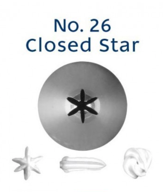 No 26 Closed Star Piping Tip - Loyal