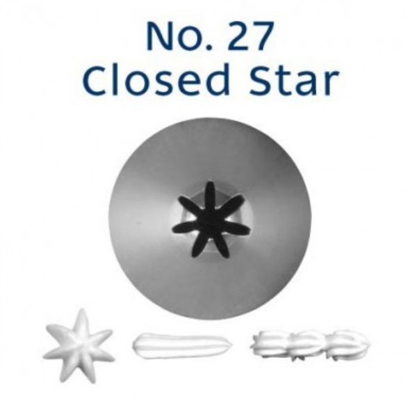 No 27 Closed Star Piping Tip - Loyal