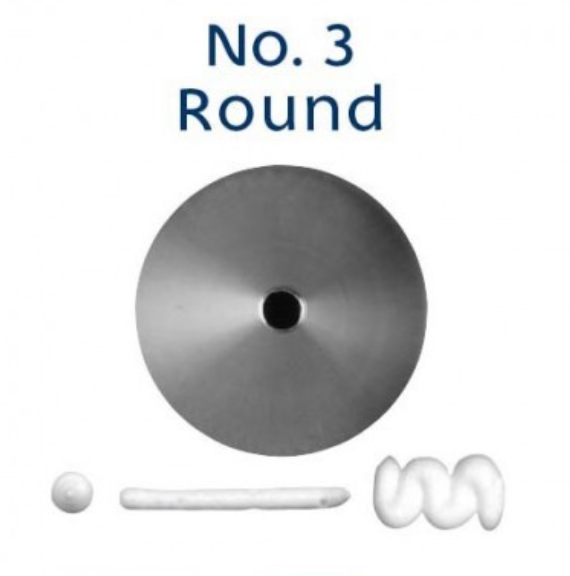 No 3 Round Piping Tip - Loyal