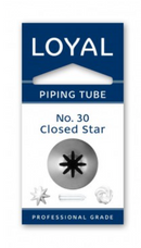 No 30 Closed Star Piping Tip - Loyal
