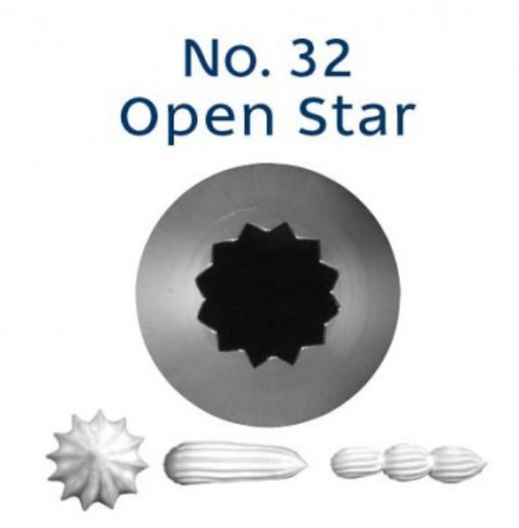 No 32 Open / French Star Piping Tip - Loyal