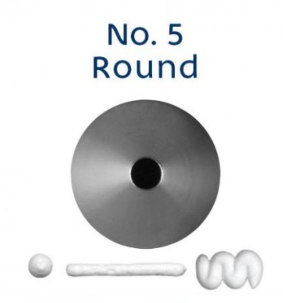 No 5 Round Piping Tip - Loyal