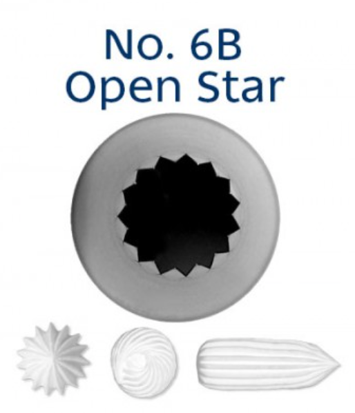 No 6B French Star Medium Piping Tip - Loyal