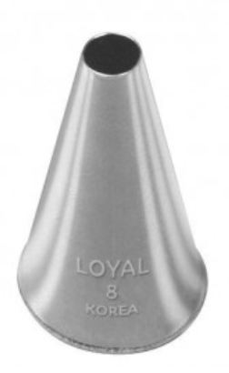 No 8 Round Piping Tip - Loyal