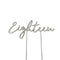 Eighteen - Silver Plated Cake Topper