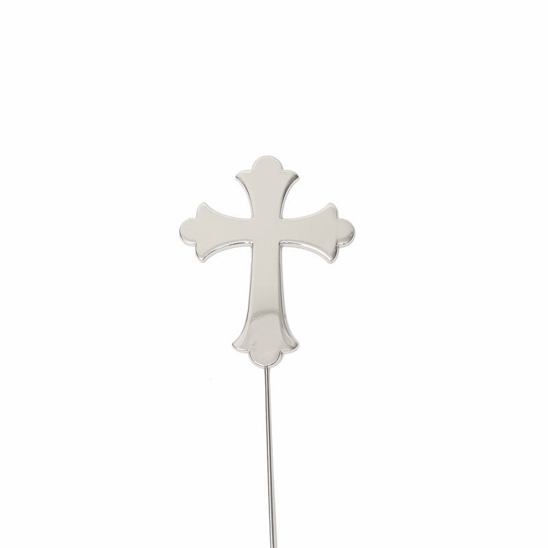 Cross - silver Plated Cake Topper