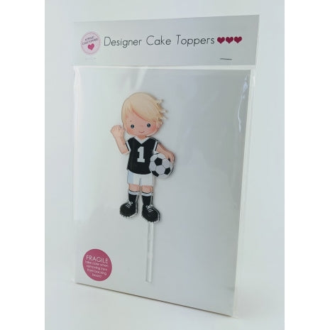 Soccer Boy - Printed Acrylic Cake Topper