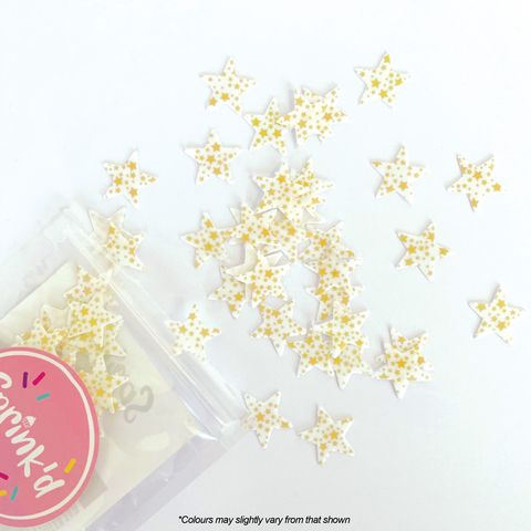 SPRINK'D GOLD STARS WAFER SPRINKLES