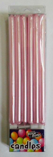 Tall Candle 12 pk – Pearl Pink