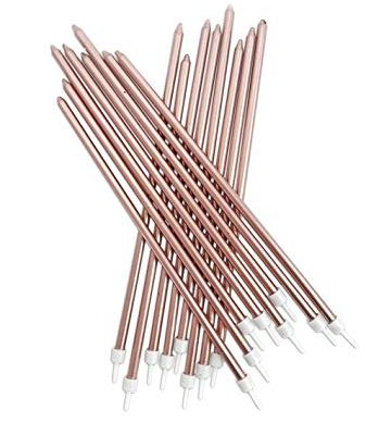 Tall Candle 12 pk – Rose Gold