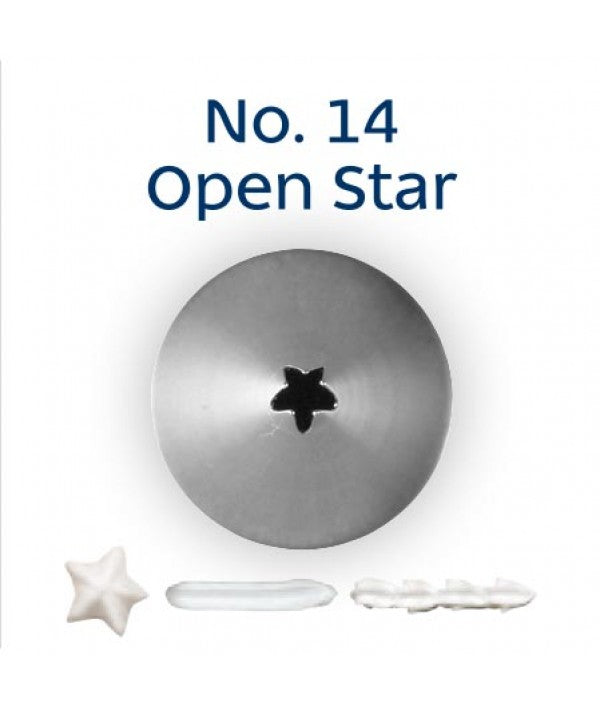 No 14 Open Star (5 Point) Small Piping Tip - Loyal