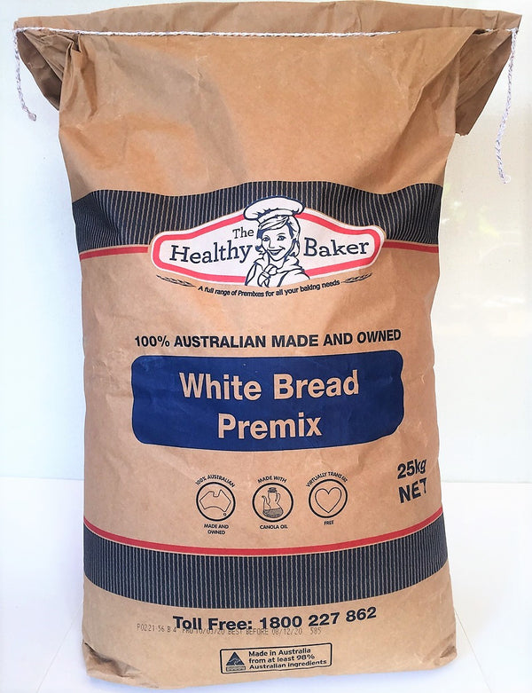 Bread Mix - White Bread Premix Bulk 25kg - The Healthy Baker
