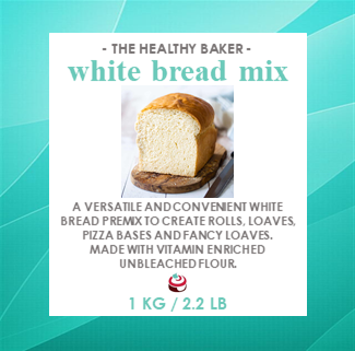 Bread Mix - White Bread Premix 1kg - The Healthy Baker