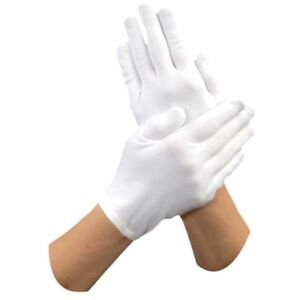 Gloves - White Cotton Food Prep Gloves (1 Pair)