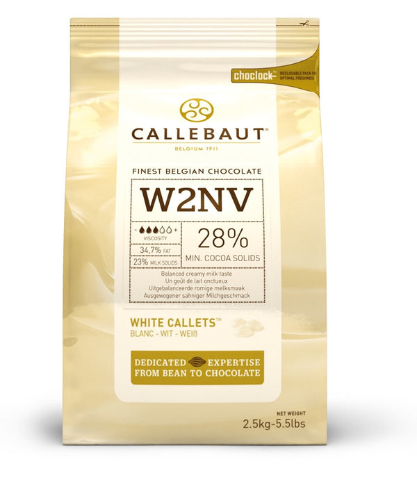 Callebaut White Couverture Chocolate Callets (Melts) 28% - 2.5kg