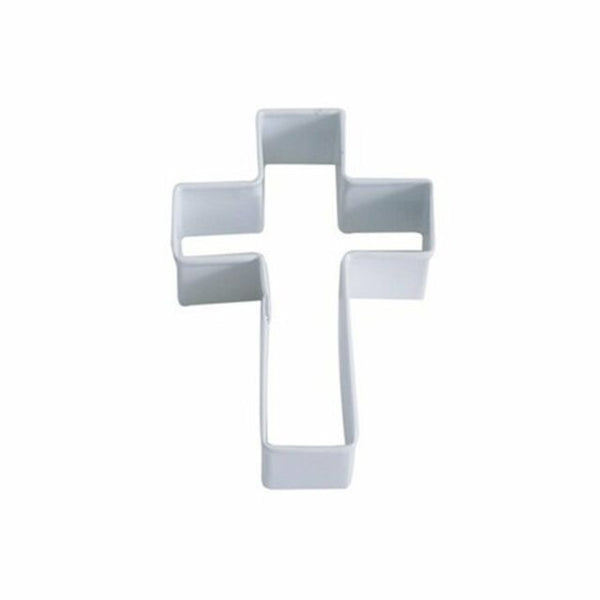 Cross - 10cm Cookie Cutter White Enamel