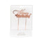 Cake Topper - Happy Birthday (V1) - Rose Gold Plated