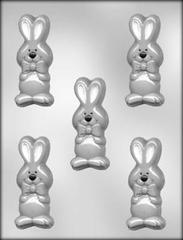 Bowtie Bunnies Chocolate Mould - 5 cavities