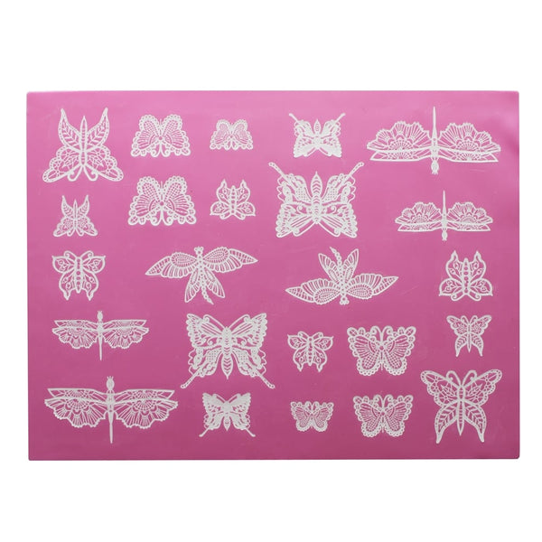Beautiful Butterflies 3d Cake Lace Mat - Claire Bowman