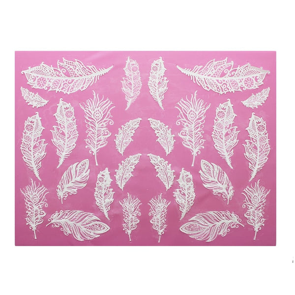 Cake Lace Mat - Feathers