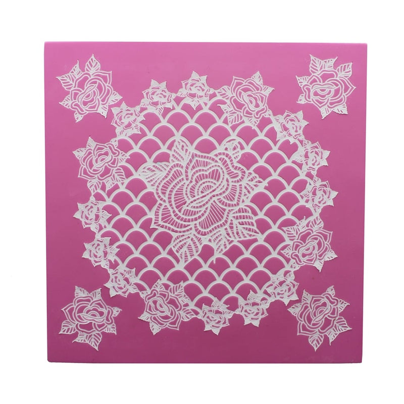 Ring Of Roses 3d Cake Lace Mat By Claire Bowman
